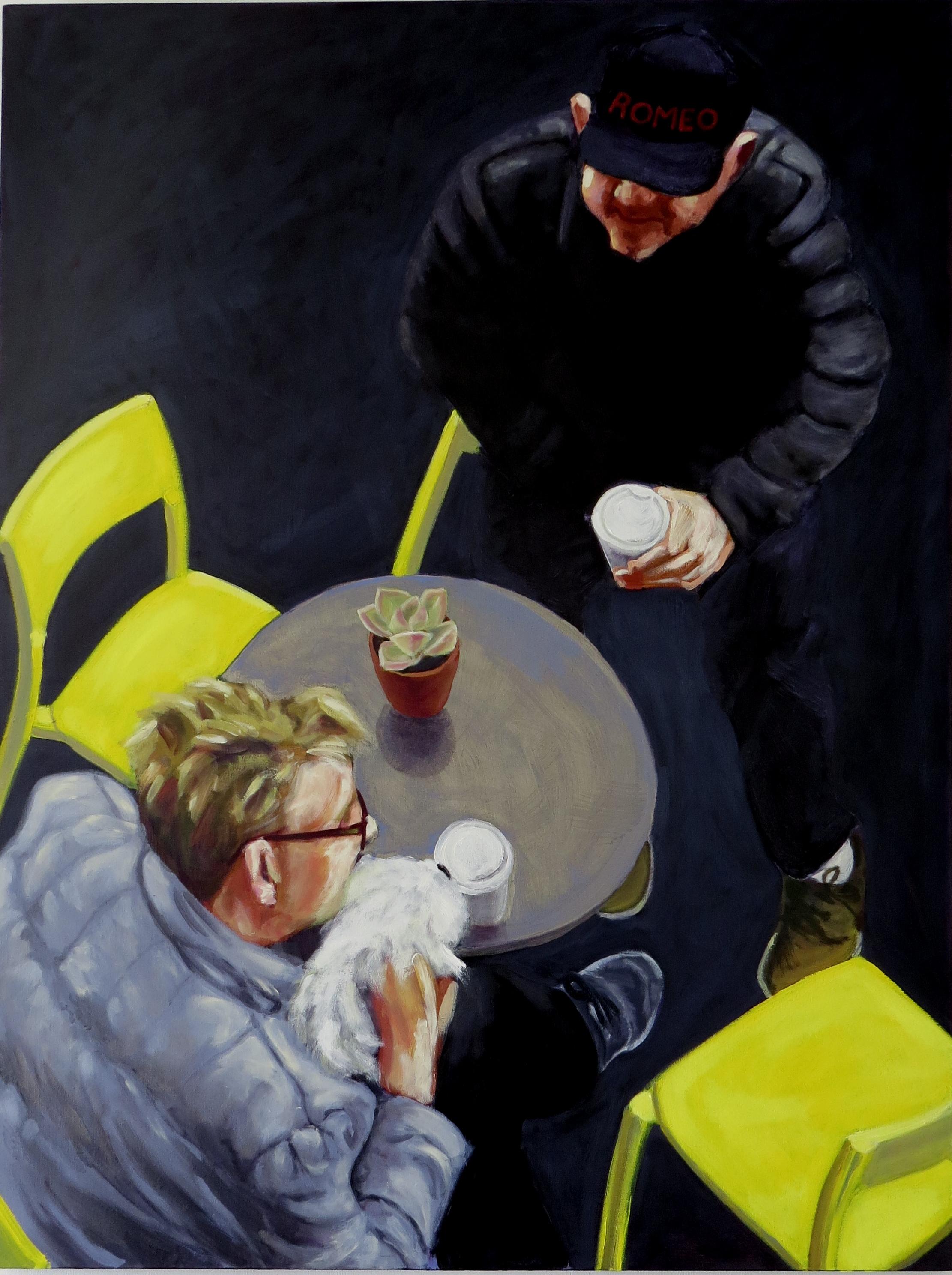 Romeo Drinking Coffee.