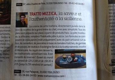 Tratto Mizzica restaurant italien Toulouse 31