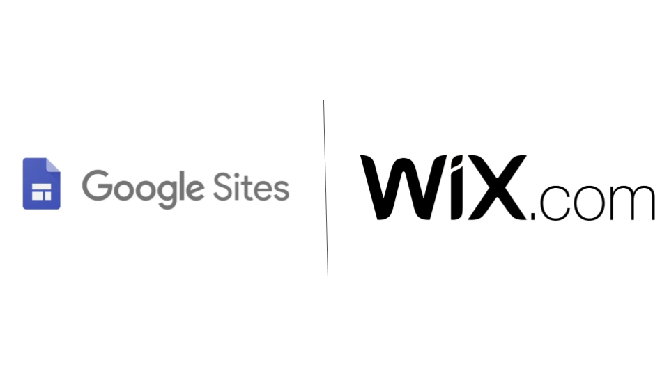 WiX logo and Google Sites Logo