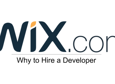 Why to Hire a Developer for your WiX Website