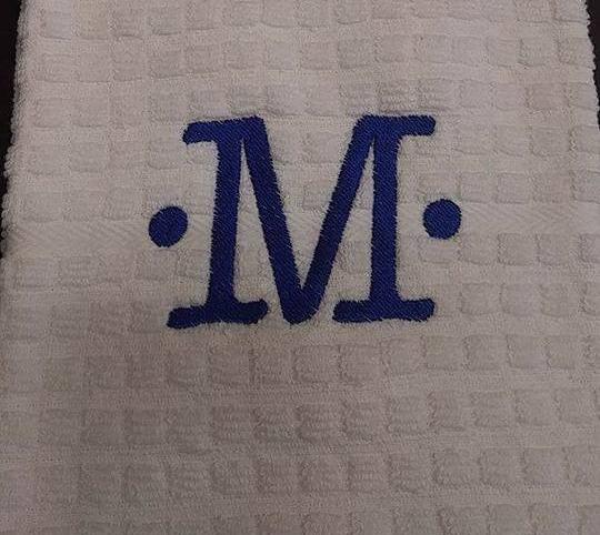 Large letter monogram