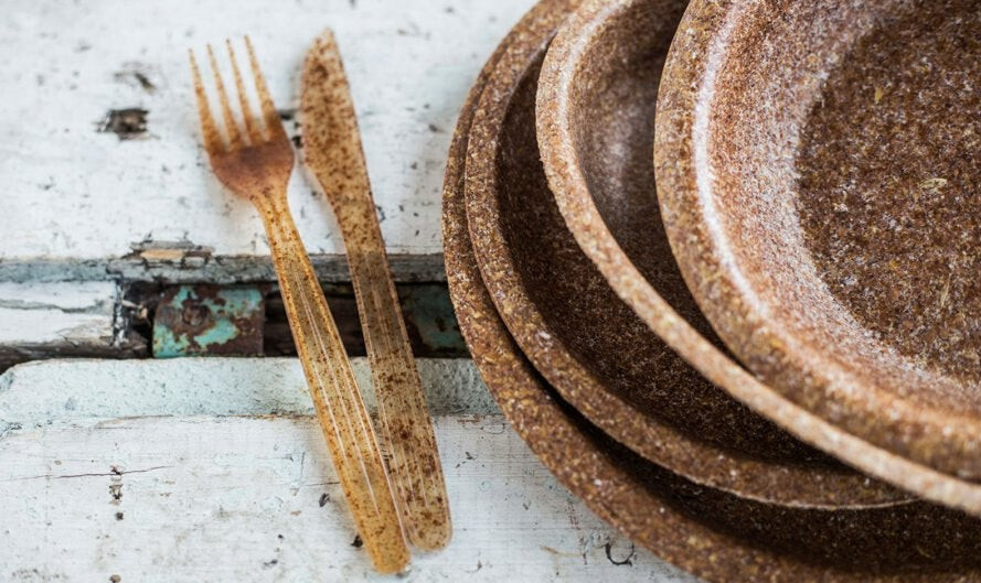 Biodegradable Tableware Made From Wheat Bran Could Be One Solution To Plastic Pollution