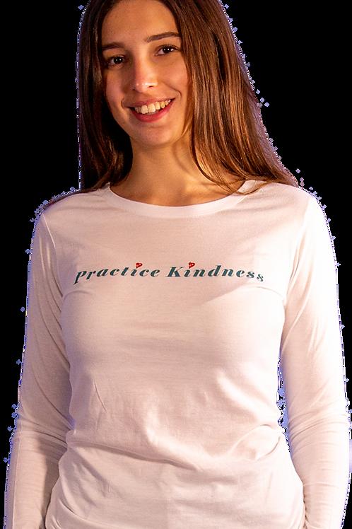 Practice Kindness With Heart Hemp & Organic Cotton Long Sleeve
