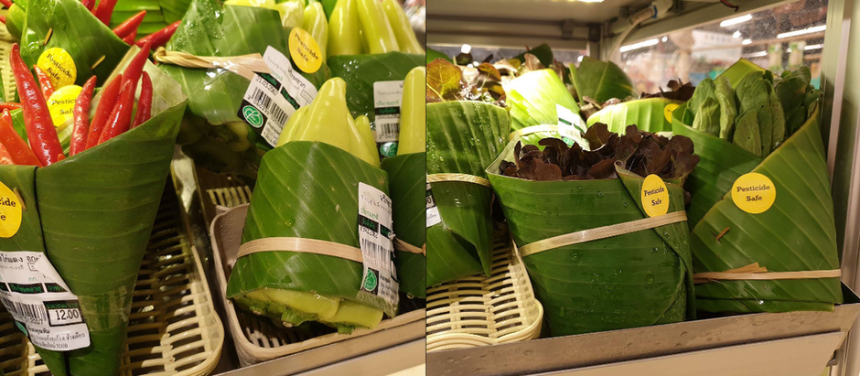 Replacing Plastic Packaging with Banana Leaves!