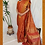Thumbnail: Rust Orange Paithini Border Tussar Silk Saree