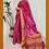 Thumbnail: Pink and Rose Pink Paithini Border Tussar Silk Saree