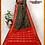Thumbnail: Bottle Green and Red Ikkat Silk Saree