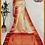 Thumbnail: Cream and Red Nakshi Kanjivaram Pure Silk Saree