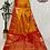 Thumbnail: Mustard and Red Kanjivaram Pure Silk Saree