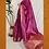 Thumbnail: Purple and Rose Pink Paithini Border Tussar Silk Saree
