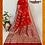 Thumbnail: Red and Maroon Banarasi Pure Silk Saree
