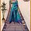 Thumbnail: Blue and Dark Blue Kanjivaram Buti Pure Silk Saree