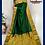Thumbnail: Bottle Green Paithini Embossed Silk Saree
