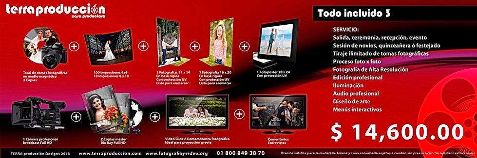 Paquetes de  Fotografía y Video Toluca