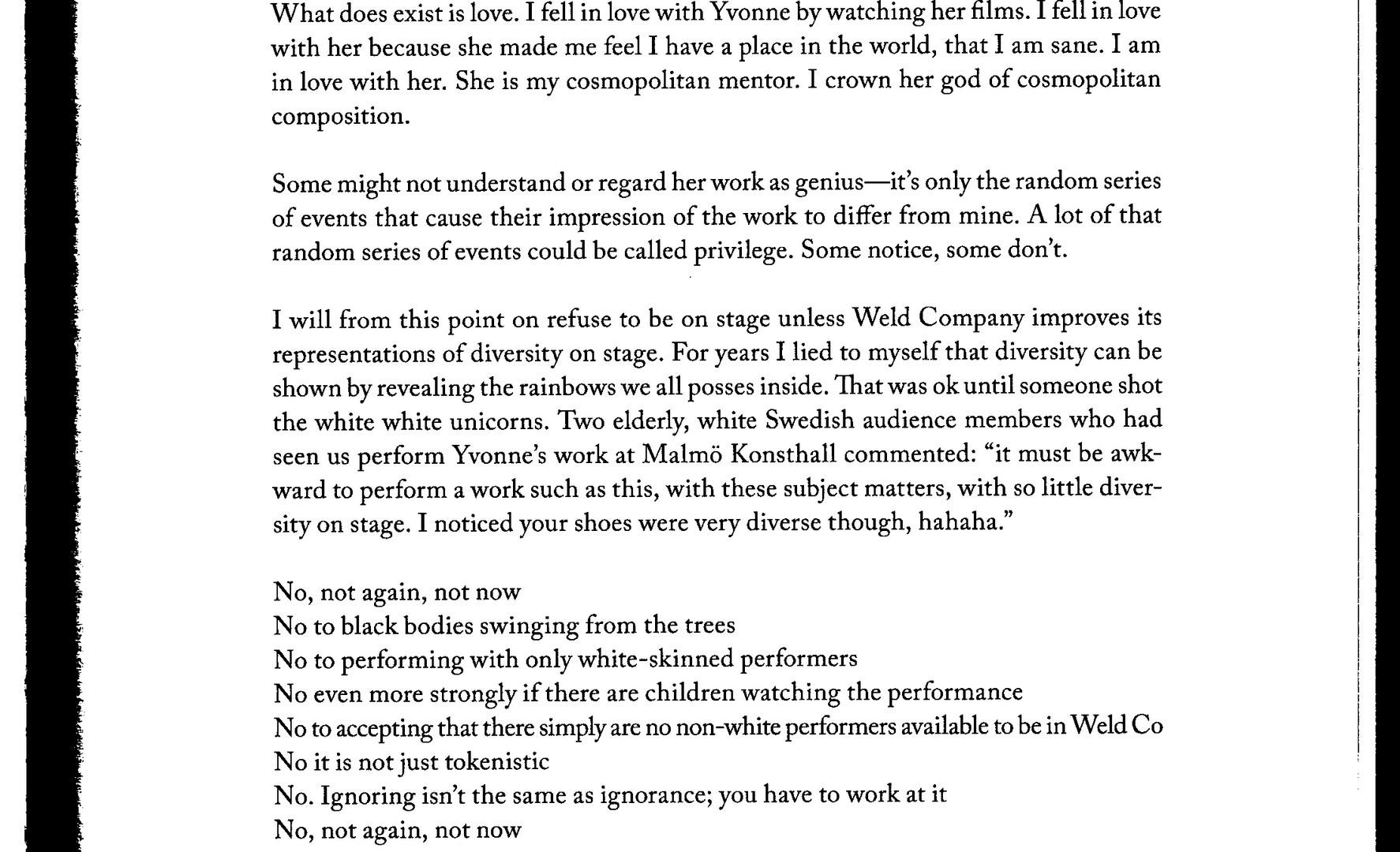 No Talking No Props Weld Company & Yvonne Rainer 2019 Robin Dingemans page 5