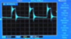 Осциллограмма выхода Ресанты САИ 220 при токе 90А