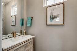 Coastal Luxe Interiors - Powder Room Design- 789 Aqua Drive