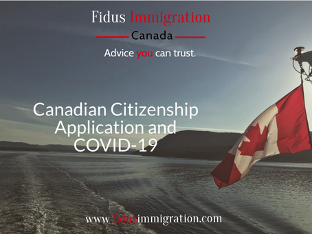 Canadian Citizenship Application and COVID-19 – Updates