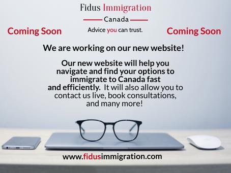 Fidus Immigration New Webiste – Coming soon.