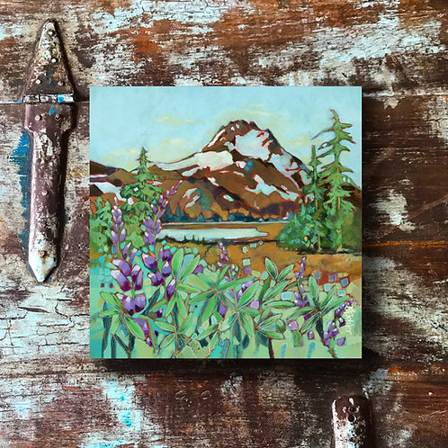 """Mt. Jefferson and Lupine"" Print"