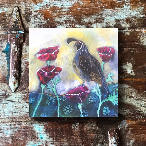 """""""The Quail With Poppies"""" Print"""