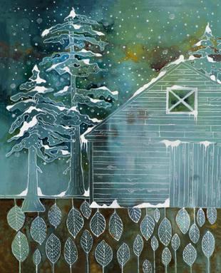 Snowy Tree with Barn 8x10.jpg