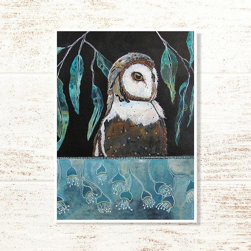"""My Barn Owl"" Notecard"