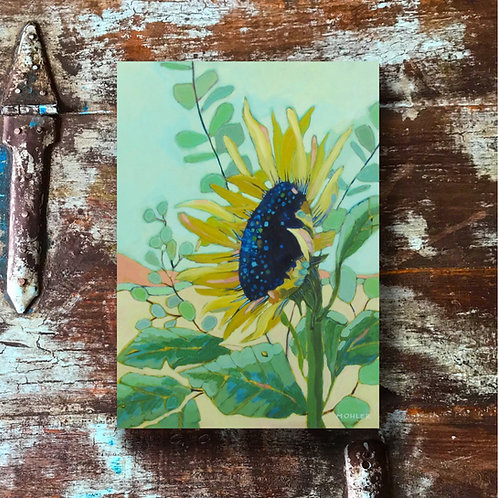 """Sunflower and Eucalyptus"" Print"