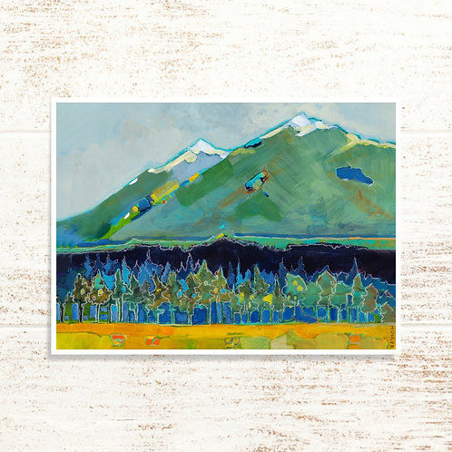 """Three Sisters in Late Summer"" Notecard"