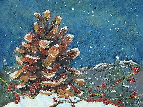 """Snowy Pinecone"""