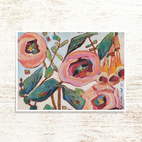 """Mountain Bouquet"" Notecard"