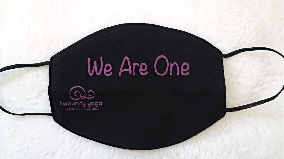 """""""We Are One"""" Cotton Mask"""