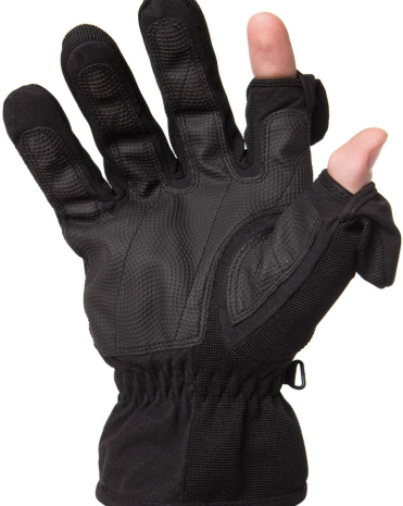 Fold Back Magnet Fastened Finger Tips - Fishing, Skiing and Photography Gloves