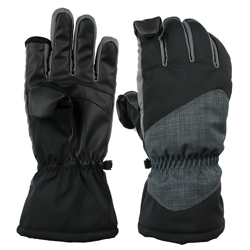 Thermolite Fold Back Finger Tip Gloves - Waterproof and Windproof back