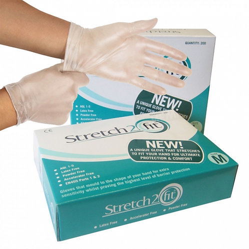 Box of 200 Disposable & Recyclable Gloves - Powder & Latex Free, Allergy Free