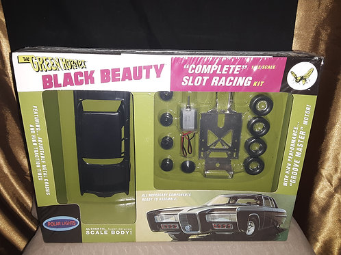 the green hornet Black Beauty Complete 1/32 Scale slot racing kit New In box  po