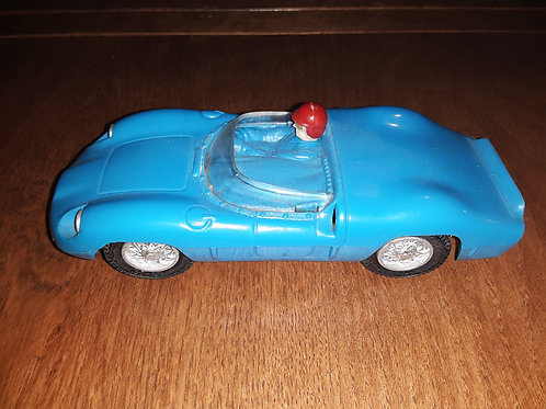 Eldon Vintage Slot Car Blue Ferrari Testa Rosa