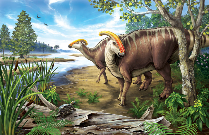 Parasaurolophus in the Kaiparowits
