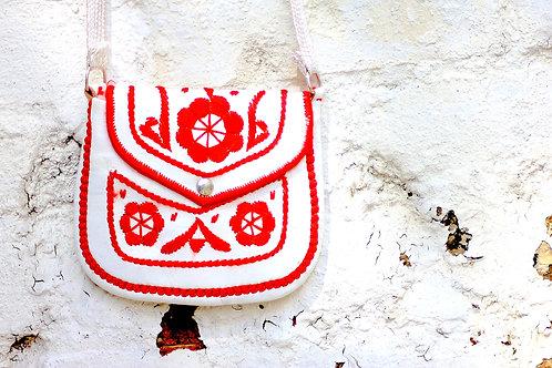 gypsy bag white/red