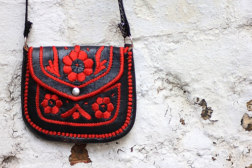 gypsy bag black/red