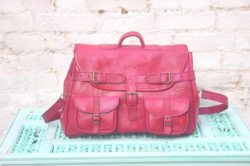 Leather weekend bag Pink