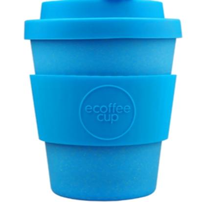 8 oz organic bamboo fibre coffeecup