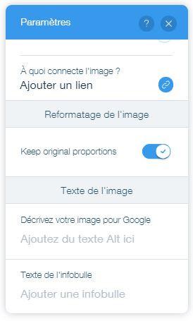 Tutoriel wix : le alt text des images