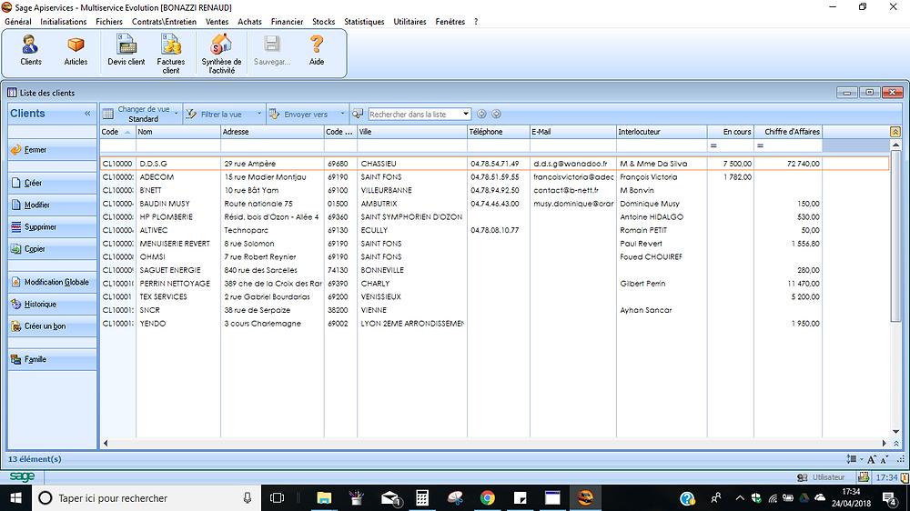 Exemple | Apibat Batigest est un logiciel devis facture bâtiment édité par SAGE