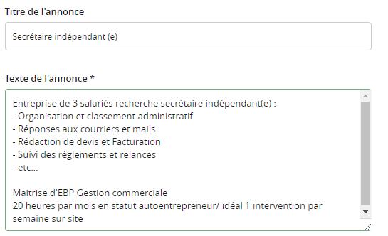 Cherche secrétaire indépendant(e)