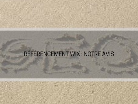 Wix et referencement : avis de l'équipe