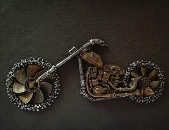 chopper custom motobike