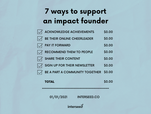 7 ways to support an impact founder
