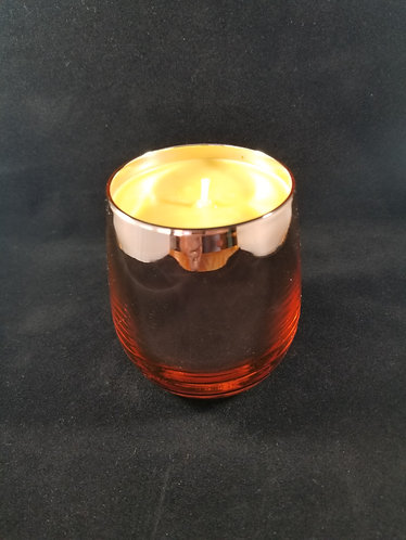 Rosegold teardrop 11 oz glass container