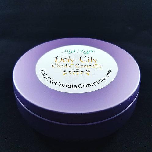 Mint Mojito,three wick, 14 oz, large, purple tin